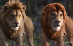"The official live-action animation (Left) compared to a fan-made edit (right) of what the ""Lion King Live Action"" movie was ""supposed"" to look like."